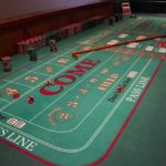 Full size craps layout on full size craps table with Upstate Vegas Events