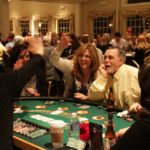 High fives all around at the blackjack table