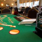 The blackjack table is ready