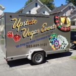 Upstate Vegas Events equipment trailer is all around Buffalo, Rochester, Syracuse NY